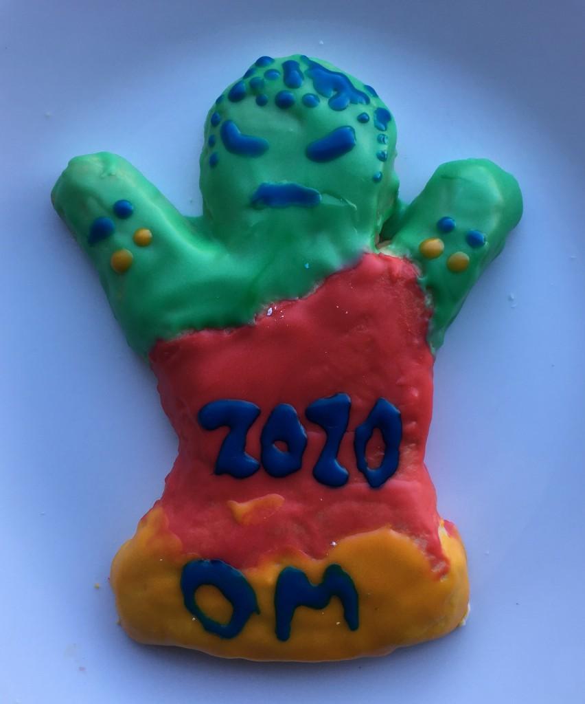 Raku cookie of the Buddha for Christmas 2020.